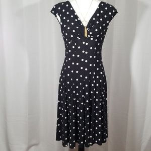 Lauren Ralp Lauren polka dots trapeze dress.  S 2